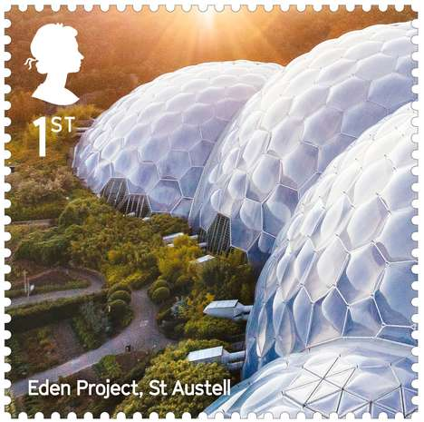 Architectural Stamp Designs - The Royal Mail's Stamp Collection Celebrates Modern British Buildings