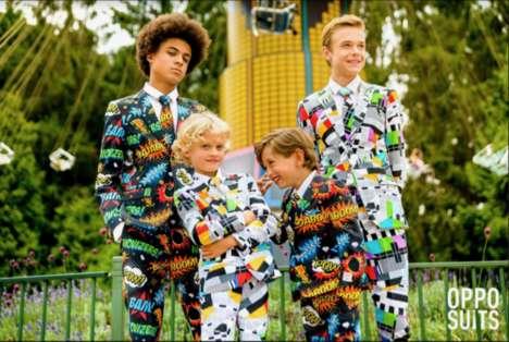 Vibrantly Patterned Formalwear
