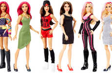 Professional Wrestler Dolls - Mattel's WWE Superstars Introduces Toys Based on Top Female Wrestlers