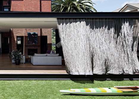 Curtain-Wrapped Home Extensions