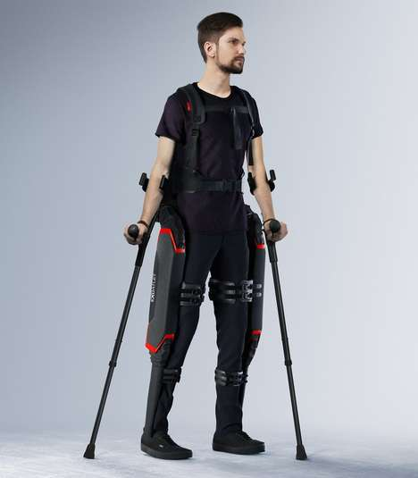 Assistive Mobility Exoskeletons - The 'Exoatlet' Skeletal Support System Boasts a Motorized Frame