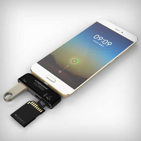 Smartphone Media Card Drives - The Hyperdrive Type-C Connection Kit Expands Smartphone Capabilities