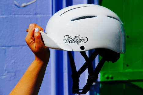 Accessorized Cycling Helmets - The 'Villager Helmet' Comes with Three Changeable Visor Options