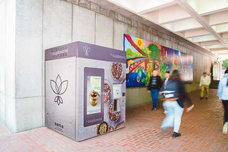 Vegan Meal Vending Machines - leCupboard Offers a Healthy, Plant-Based Vending Machine for Food