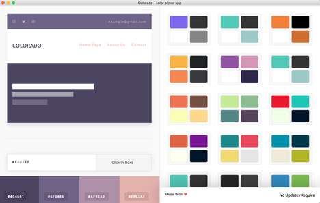 Curated Color-Picking Apps - The Colorado App's Color Swatches are Submitted by Creatives