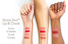 Sleek Dual-Purpose Makeup Palettes - lilah b.'s Divine Duo Can Add a Pop of Color to Lips and Cheeks
