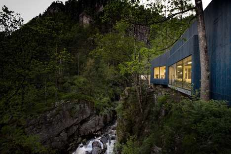 Salmon-Viewing Centers - The Kvasfossen Visitor Center Offers Views of a Salmon Ladder