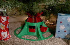 One-Step Holiday Tree Stands - The 'Eazy Treezy' Christmas Tree Stand Sets Up in Mere Seconds