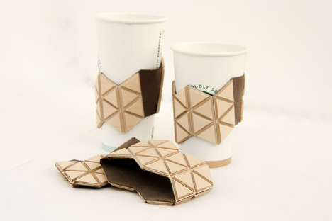 Reusable Coffee Sleeves - This Wooden Coffee Sleeve is an Eco-Friendly Alternative to Paper