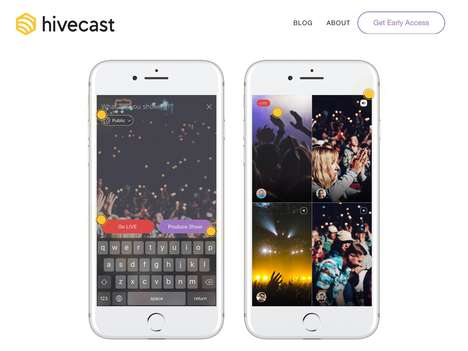 Collaborative Live Stream Apps - 'Hivecast' Lets You Produce a Live Stream with Friends or Teams