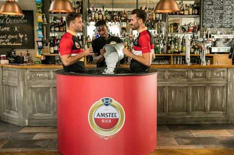 In-Bar Ice Baths - Amstel's 'Cold Tub Pub' Will Refresh Cyclists After the Prudential Ride London