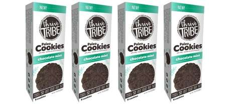 Whole Food Ingredient Cookies - The Thrive Tribe Chocolate Mint Paleo Cookies are Small-Batch Baked