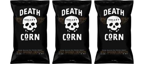 Spicy Blackened Popcorns - The Pipsnacks Death Valley Corn Spicy Smoked Mesquite Popcorn is Savory