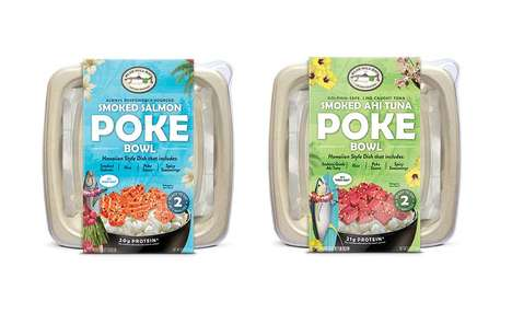 Salt-Cured Portioned Poke Bowls - The New Blue Hill Bay Smoked Fish Poke Bowls are Fresh and Tasty