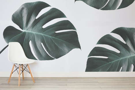 Faux Foliage Wallpapers - This Jungle-Inspired Wallpaper from Murals Wallpaper is Minimal, Yet Bold