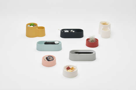 Smooth Multi-Use Trays - Shinya Yoshida's 'Drape Collection' is Pleasingly Tactile