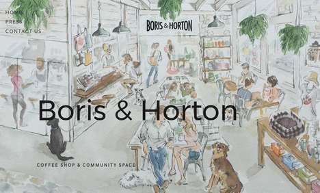 Community Dog Cafes - Boris & Horton Hosts Dogs for Coffee and Community Events