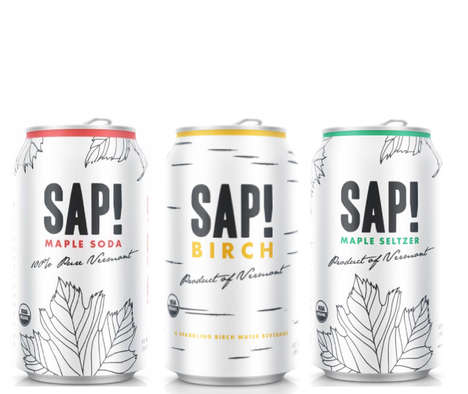 Sap-Based Beverages - SAP! Makes Maple Drinks in Seltzer and Soda Varieties