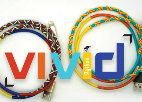 Tough Chromatic Connector Cables - The VIVID Kevlar Charging Cables are Chromatically Vibrant