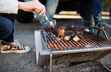 Folding Food-Grilling Fire Pits