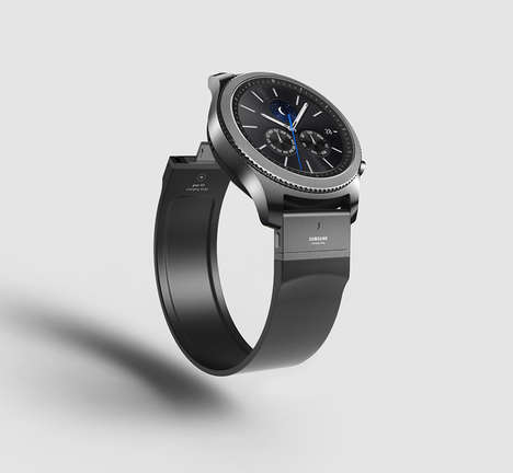 Charging Smartwatch Straps - This Samsung Gear S3 Strap Doubles as a Charger for the Wearable