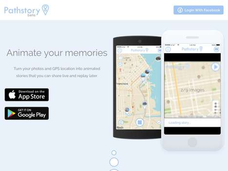Path-Sharing Social Networking Services - 'Pathstory' Lets Users Share Their Path and Photos via GPS