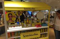 Custom Connected Eyeglass Pop-Ups - The Snap Spectacles Pop-Up is On Display at Harrods in London
