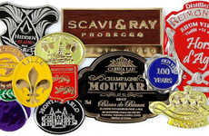 Luxury Pure Pewter Labels - Etiq'Etains' Self-Adhesive Labels are Suited for Luxury Products