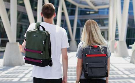 Customizable Collegiate Backpacks - The 'BARKER' Student Backpacks Have a Rugged Design Aesthetic