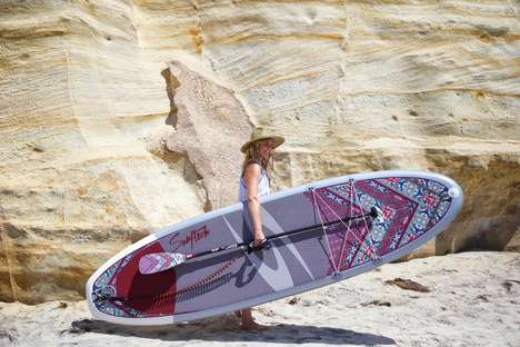 Sustainable Stand-Up Paddle Boards - This 'Surftech' Paddle Board Uses Eco-Friendy 'BLOOM' Foam