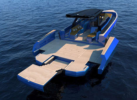Modular Yacht Decks - This Yacht Has an Expandable Deck That Extends in 30 Seconds