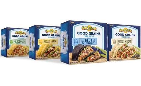 Flavorful Authentic Taco Shells - The Ortega Good Grains Taco Shells are Made from Natural Foods