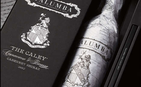 Cartographic Cabernet Bottles - 'The Caley' From Yalumba Celebrates the Winery's 168-Year Heritage