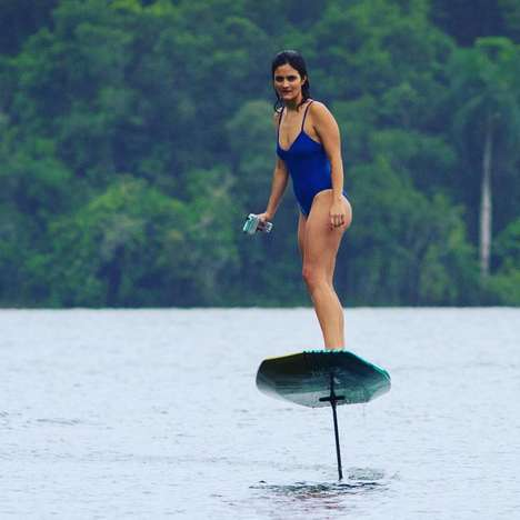 Motorized Levitating Surfboards - This Floating Surfboard Effortlessly Hovers Above the Water