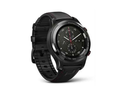 Car Brand Smartwatches - The Porsche Design Huawei Watch 2 Has a Demure Black Aesthetic