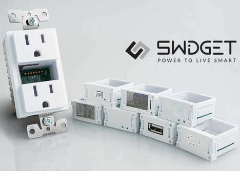 Interchangeable Technology Outlets - The 'Swidget' Smart Home Outlet Hides Tech in Plain Sight