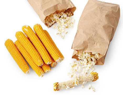 Fresh Popping Corn Cobs - Popcorn On The Cob Keeps Kernels Confined to the Cob Until Popped