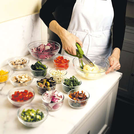 Ingredient-Chopping Tongs - The Trudeau Toss & Chop Salad Tongs Prepare Ingredients in a Snap
