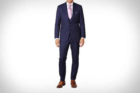 Offensive Text Suits - The David August F*ck You Pinstripe Suit was Worn by Conor McGregor