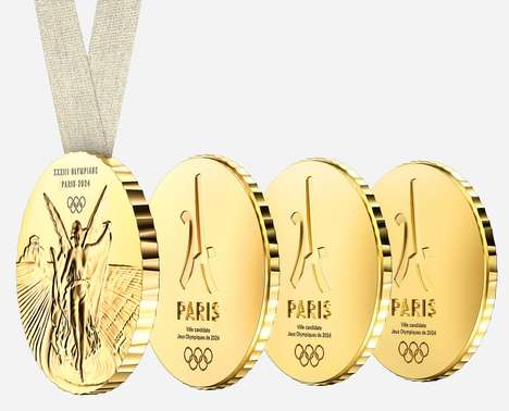 Shareable Olympic Medals - The Paris 2024 Olympic Medals were Designed by Philippe Starck