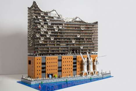 LEGO-Built Concert Halls - 'Brickmonkey' Made a Small-Scale Replica of the Hamburg Concert Hall