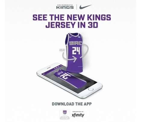 AR Jersey Apps - The Kings + Golden 1 Center App Shares the Look of the Team's New Nike Jerseys