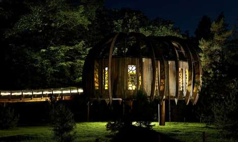 Meditative Treehouses - The Quiet Treehouse Promotes the Health Benefits of Noise Reduction