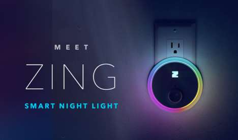 Smart Motion-Tracking Night Lights - The 'ZING' Home Night Lights Incorporate Motion-Sensing Tech