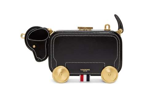 Puppy-Shaped Clutch Bags - This Thom Browne Clutch Adds a Touch of Obscure Luxuriousness to Any Look