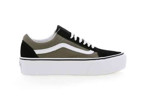 Chunky Platform Skate Shoes - These Vans Old Skool Platforms Now Come in Two Fresh Colorways