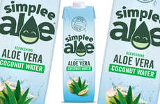 Aloe Vera-Infused Coconut Waters - The Simplee Aloe Aloe Vera Coconut Water is Packed with Nutrients