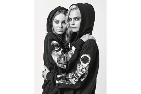 Austere Luxury Wear Campaigns - This New Chanel Campaign Stars Cara Delevingne and Lily-Rose Depp