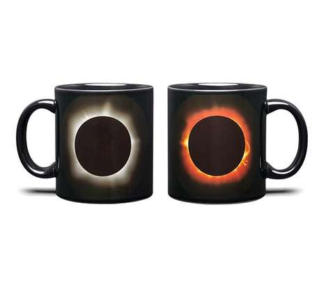 Heat-Changing Solar Eclipse Mugs - These Mugs Change Colors When Hot Liquid is Added