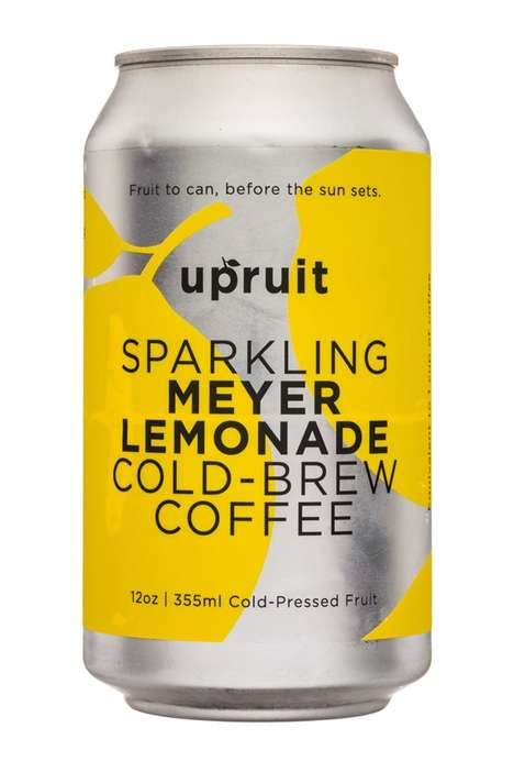 Cold Brew Juices - 'Upruit' Makes Hybrid Cold Brew Beverages Combined with 14 - 37% Fruit Juice